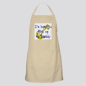 Navy Here to pick up my Daddy (blue) BBQ Apron