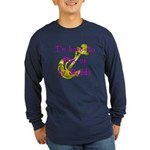 Navy Here to pick up Daddy (pink) Long Sleeve Dar