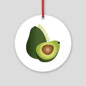 Avocado Ornament (Round)