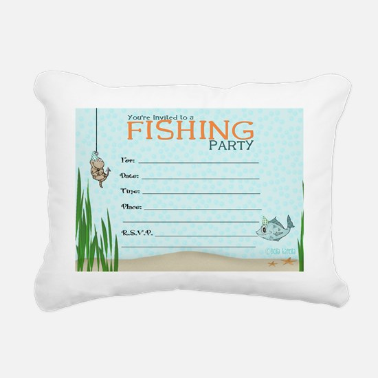 Fishing Invitation Rectangular Canvas Pillow