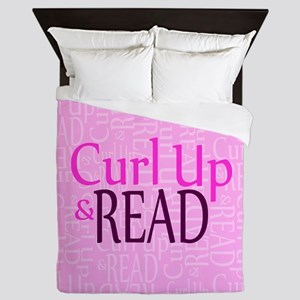 Curl Up and Read Pink Queen Duvet
