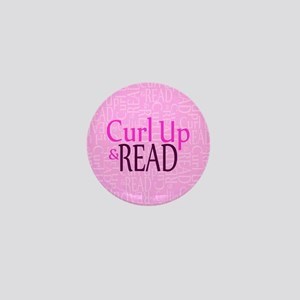 Curl Up and Read Pink Mini Button