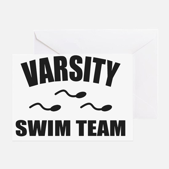 Varsity Swim Team Greeting Card