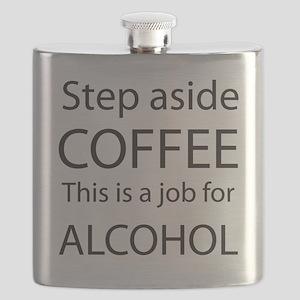 Step Aside Coffee Black Flask