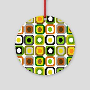 MCM squares 222 Duvet Round Ornament