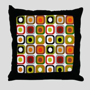 MCM squares 3 RED DUVET Throw Pillow