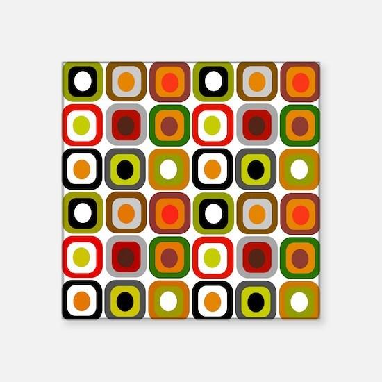 "MCM squares 3 RED DUVET Square Sticker 3"" x 3"""