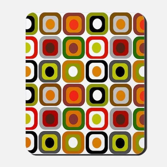 MCM squares 3 RED DUVET Mousepad