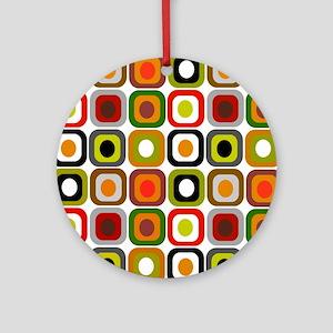 MCM squares 3 RED DUVET Round Ornament