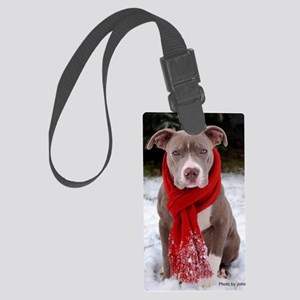 Holiday Pit Bull Large Luggage Tag