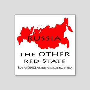 """The Other Red State Square Sticker 3"""" x 3"""""""