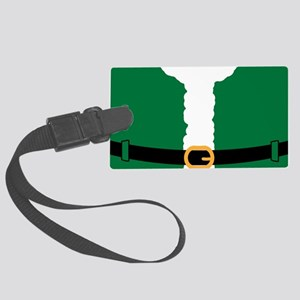Santa Costume Green-01 Large Luggage Tag