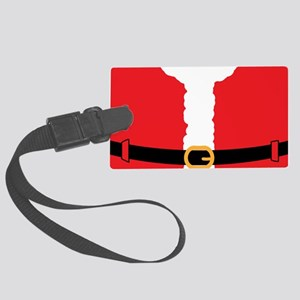 2012-12-12_Funny_SantaSuit-front Large Luggage Tag
