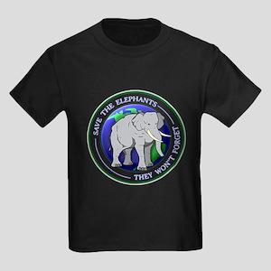 Save The Elephants Dark T-Shirts T-Shirt