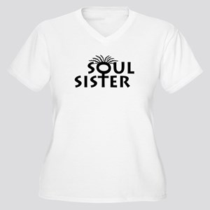 SOUL SISTER BOUTIQUE Women's Plus Size V-Neck T-Sh
