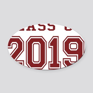 Class of 2019 (Red) Oval Car Magnet