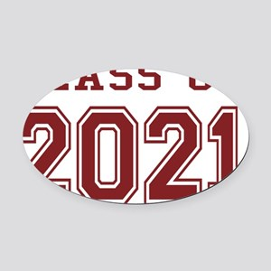 Class of 2021 (Red) Oval Car Magnet