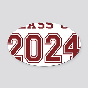 Class of 2024 (Red) Oval Car Magnet