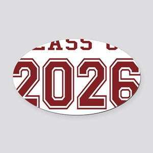 Class of 2026 (Red) Oval Car Magnet