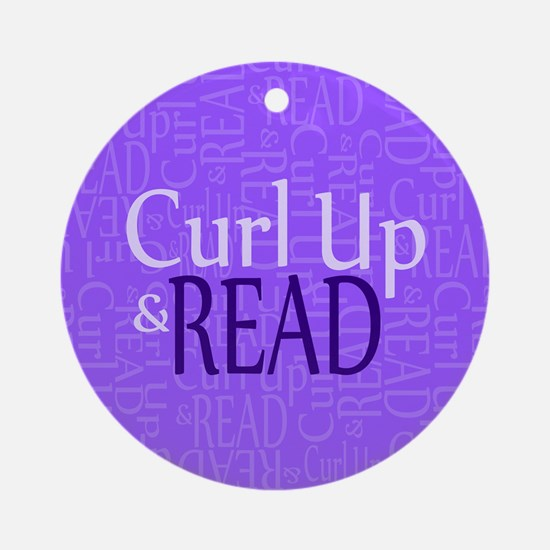 Curl Up and Read Purple Ornament (Round)