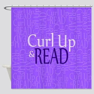 Curl Up and Read Purple Shower Curtain