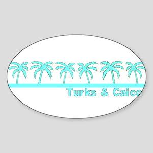 Turks & Caicos Oval Sticker