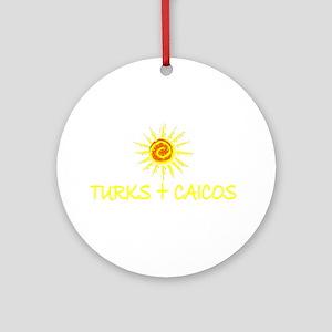 Turks & Caicos Ornament (Round)