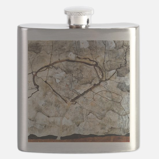 Autumn Tree in Movement by Egon Schiele Flask