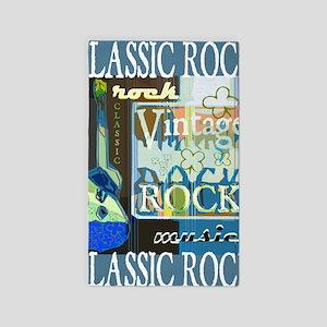 Classic Rock N Roll 3'x5' Area Rug