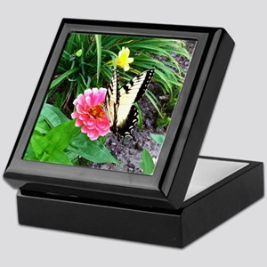 zinnia butterfly Keepsake Box