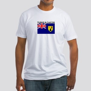 Turks & Caicos Flag Fitted T-Shirt