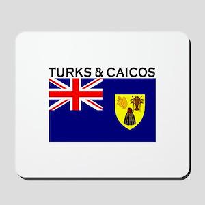 Turks & Caicos Flag Mousepad