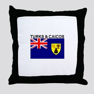 Turks & Caicos Flag Throw Pillow