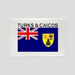 Turks & Caicos Flag Rectangle Magnet