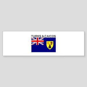 Turks & Caicos Flag Bumper Sticker