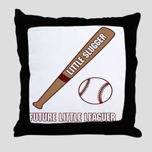 Little Slugger Throw Pillow