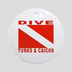 Dive Turks & Caicos Ornament (Round)