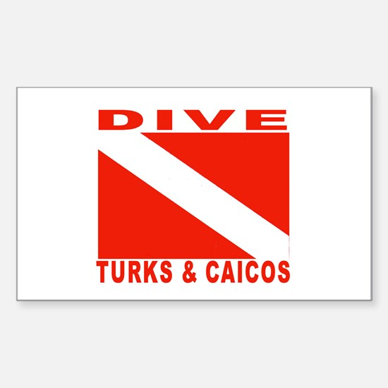 Dive Turks & Caicos Rectangle Decal