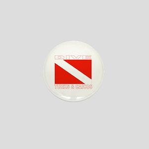 Dive Turks & Caicos Mini Button