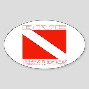 Dive Turks & Caicos Oval Sticker