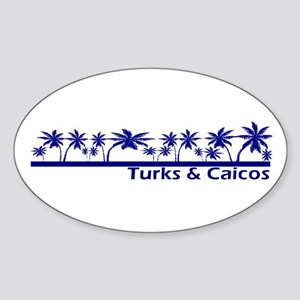 Turks & Caicos Oval Sticker