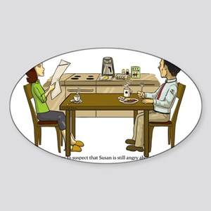 Breakfast Suspicions Sticker (Oval)