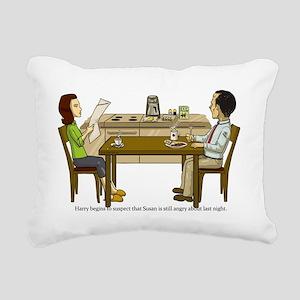 Breakfast Suspicions Rectangular Canvas Pillow