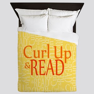 Curl Up and Read Yellow Queen Duvet