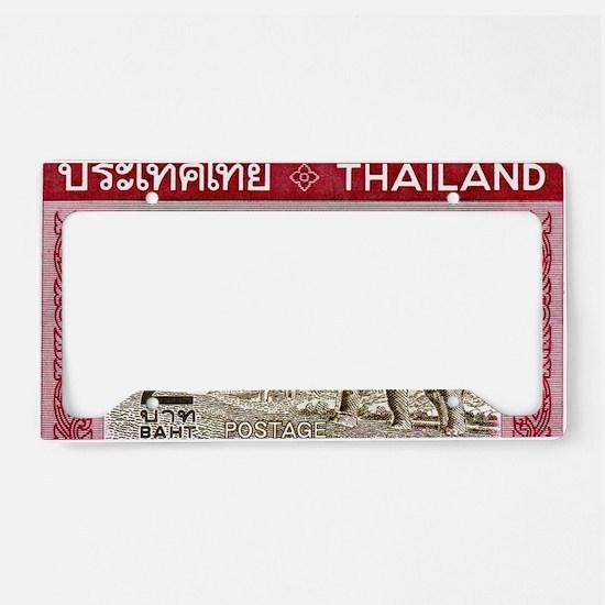 1968 Thailand Working Elephan License Plate Holder