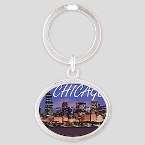 chicago 2014 Oval Keychain