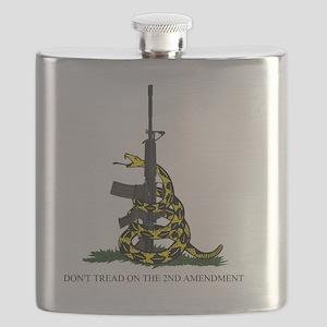 Gadsden Flag - 2nd Amendment Flask