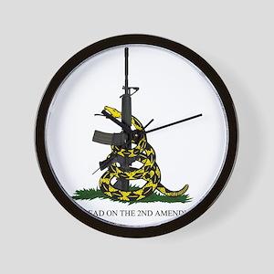 Gadsden Flag - 2nd Amendment Wall Clock