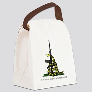Gadsden Flag - 2nd Amendment Canvas Lunch Bag