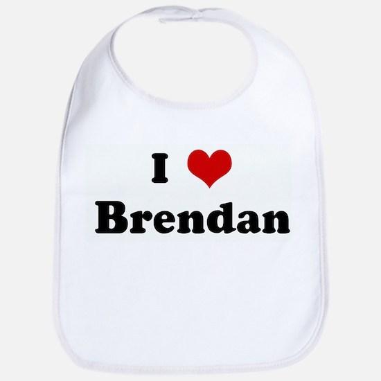 I Love Brendan Bib